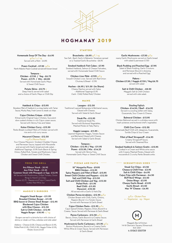 hogmanay menu maggies kilmarnock